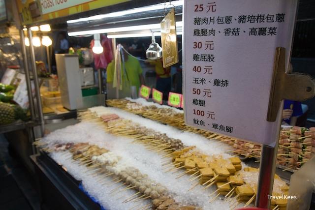 tussenstop in Taipei, Ningxia nightmarket,