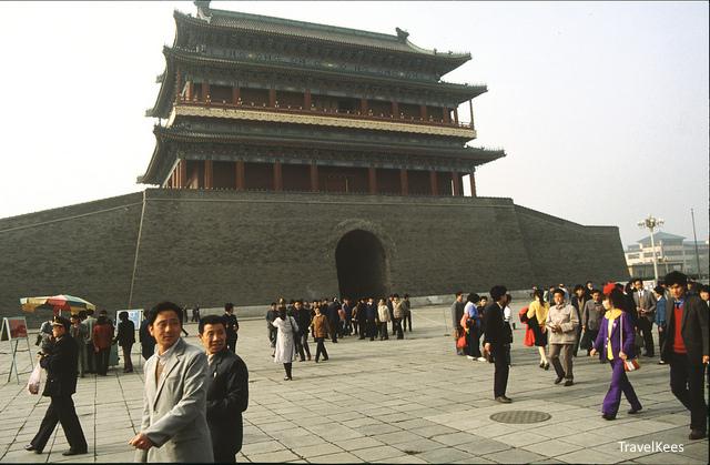 beijing, zhengyangmen, beijing per fiets,