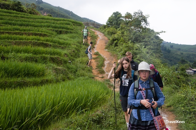 trekking group, sapa