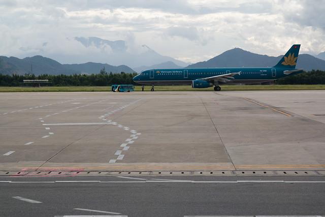 vliegtuig op de luchthaven van Da Nang