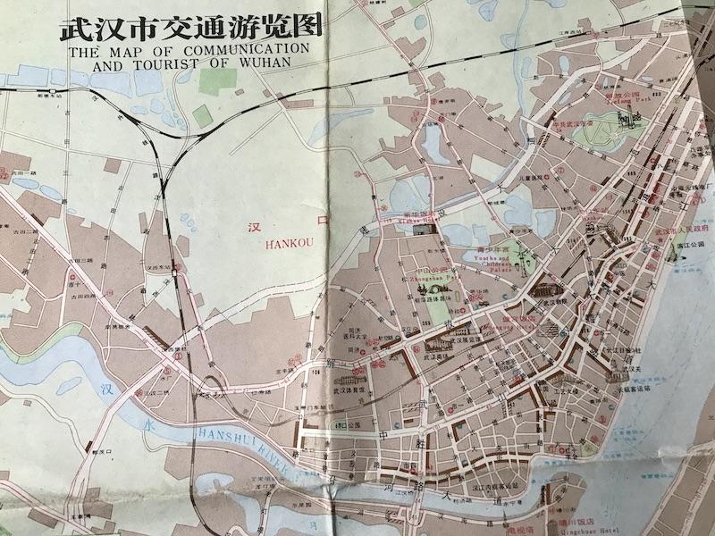 stadskaart van Wuhan
