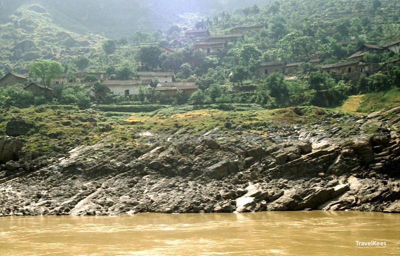 oevers van de yangtze rivier