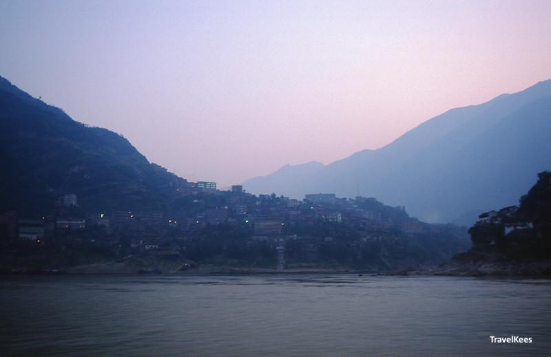 yangtze rivier ochtendschemering