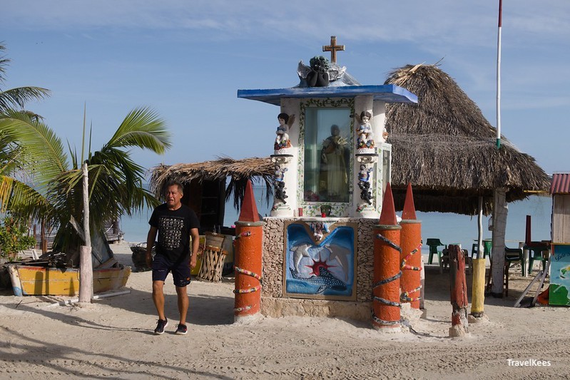 altaar op het strand van Isla Holbox