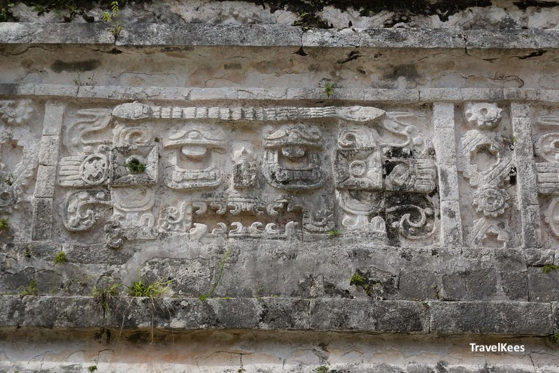 sculpture in las monjas, chichen itza