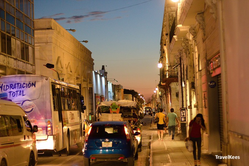 twilight in the streets of mérida