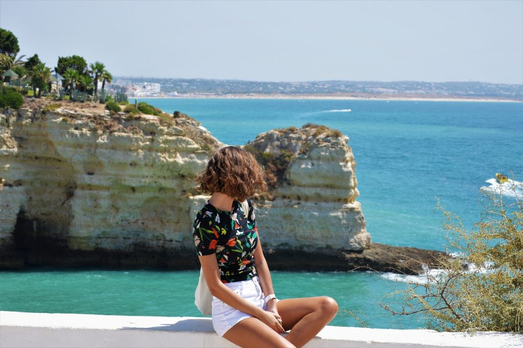 meisje, oceaan, algarve all inclusive,